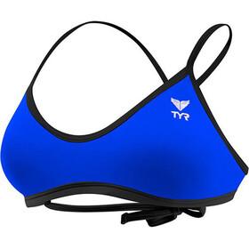 TYR Solid Crosscut Bikini Top Atado Atrás Mujer, azul